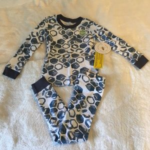 Burt's Bees Baby Pajamas Waterfall Watercolor Hive